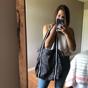 PINK Victoria's Secret Grey Zip-Top Sport Tote Bag